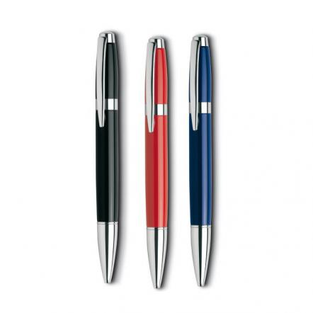 Twist type metal ball pen