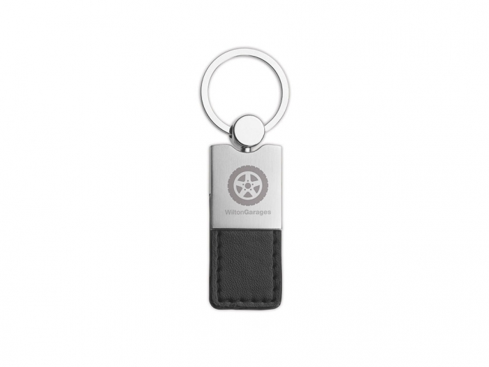 Metal and PU leather key ring