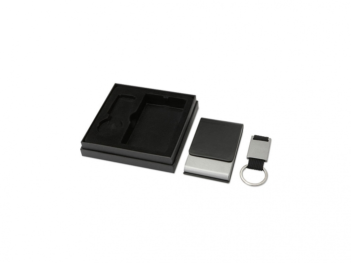 Key ring and card holder set
