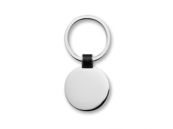 Round shaped metal key ring