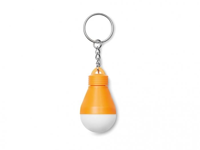 Light bulb key ring