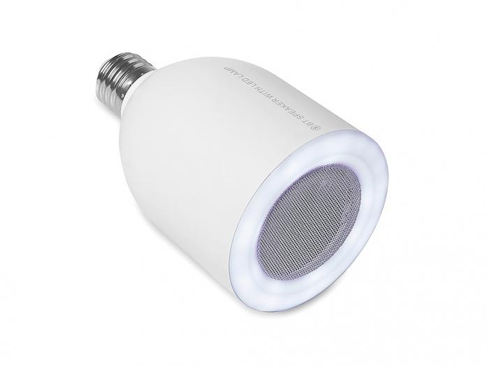 Bluetooth speaker with LED light.