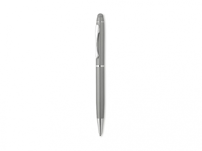 Aluminium ball pen with soft touch tip