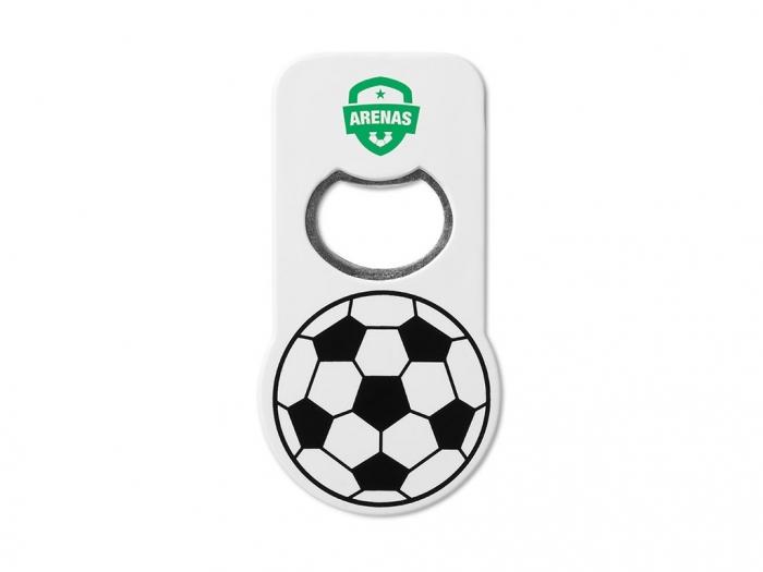 Bottle opener with football