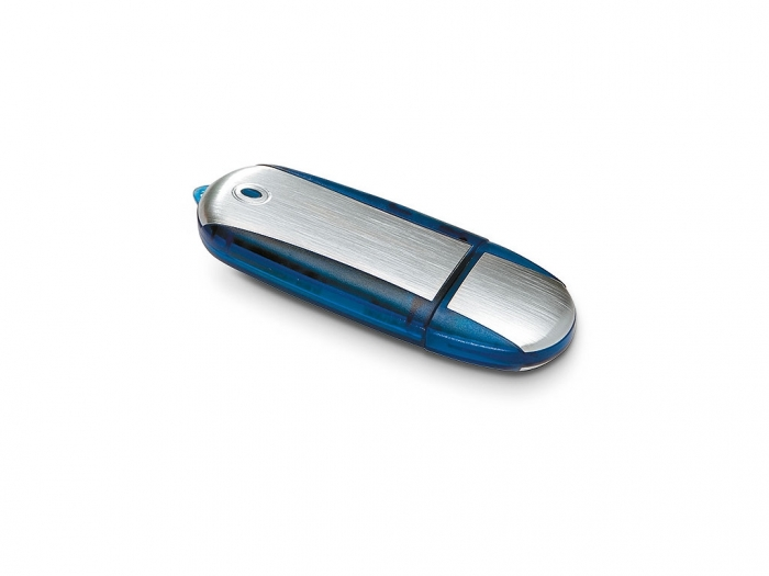USB Flash Drive in oval metal case
