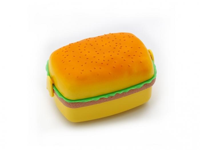 Hamburger shape plastic lunch box