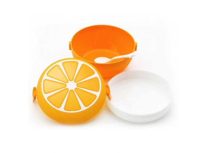 Orange shape lunch box