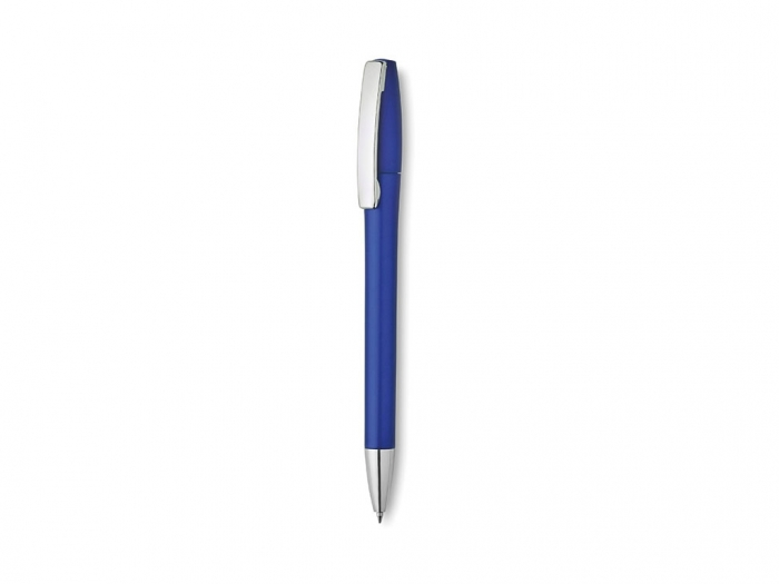 Plastic ball pen with metallic finish