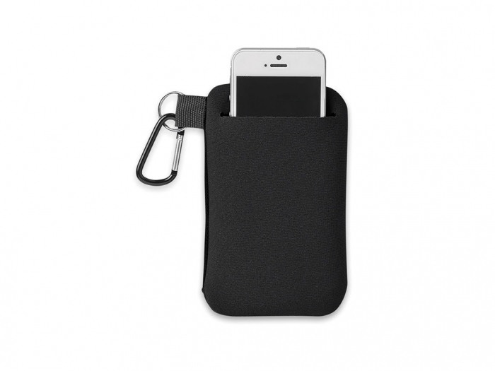 Phone holder with pouch