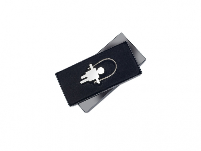 Zinc alloy boy shaped keyring