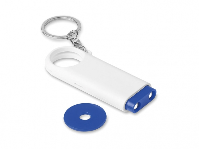 Key ring torch with token