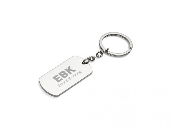 Metal key ring plate