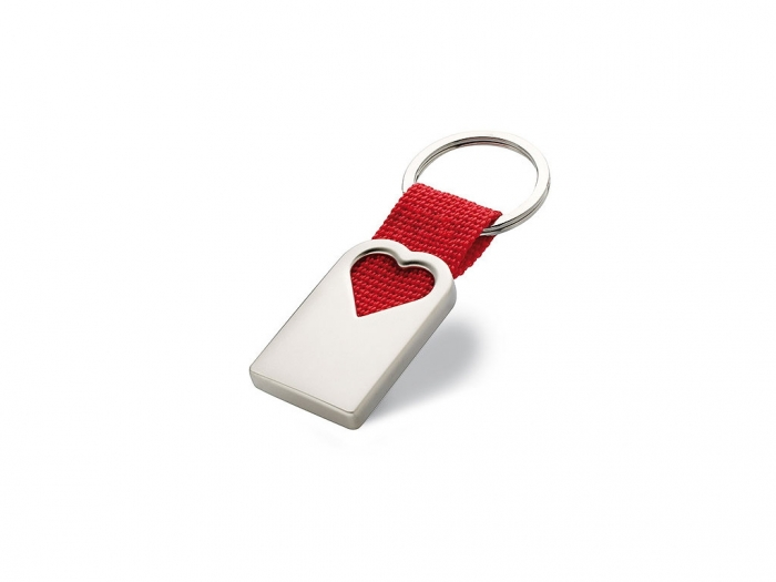 Heart metal key ring