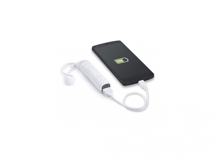 Power bank with a silicone jacket