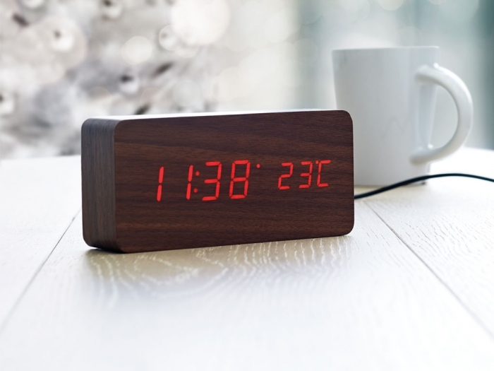LED time display clock in MDF