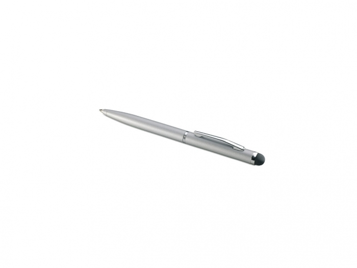 Matt Silver Metal Pen With Stylus