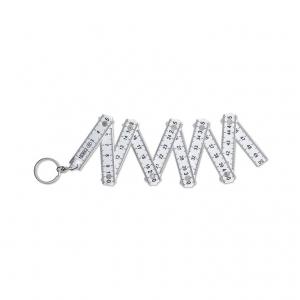 Carpenter ruler and key ring