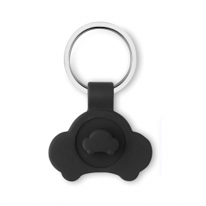 Car shaped key ring with token
