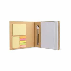 Notebook with sticky notes