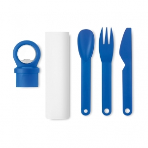 Cutlery set with opener