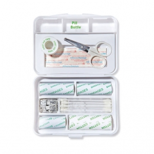 Plastic first aid kit