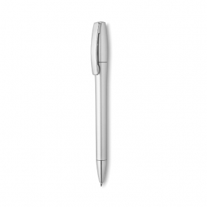 Plastic ball pen with metallic finish