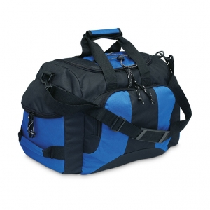 Sport bag with 3 lateral zipper compartments