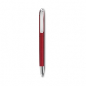 Twist ball pen with metallic