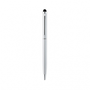 Shiny Chrome Clip Ball Pen with Stylus