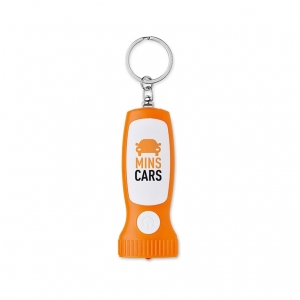 Key ring with light in torch