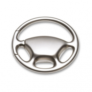 Metal key ring in steering wheel shape
