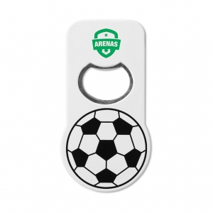 Bottle opener with football