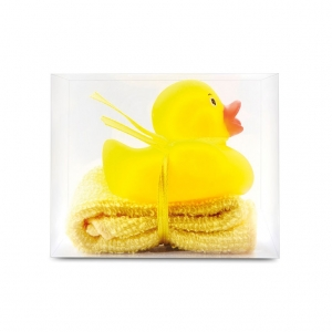 Bath duck with mini towel