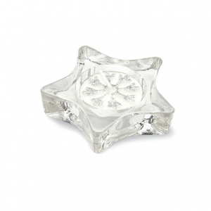 Star shaped glass tea light