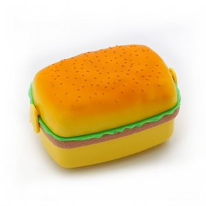 Hamburger shape plastic lunch box