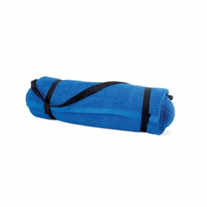 Foldable beach towel with pillow