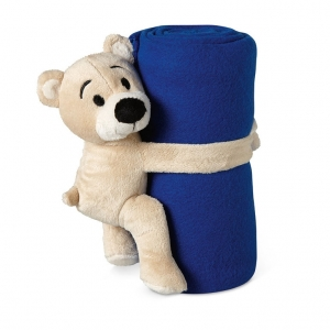 Fleece blanket with bear