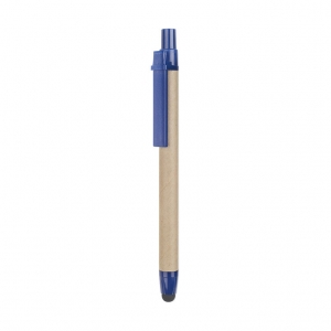 Ball pen made with recycled carton barrel