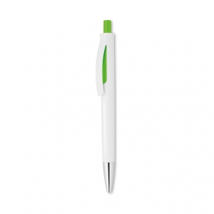 Retractable pen with white bar