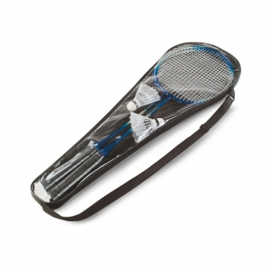 Badminton set including 2 shuttlecocks