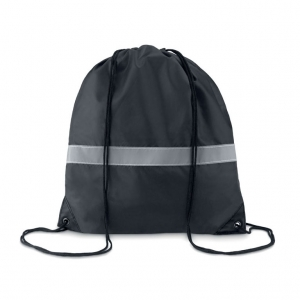 Drawstring reflective stripe