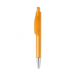 Transparent push button pen