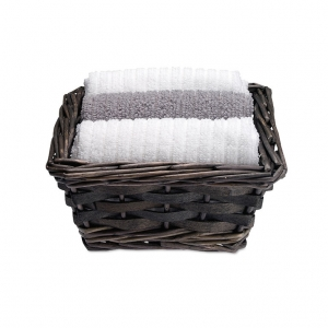 Towels in basket