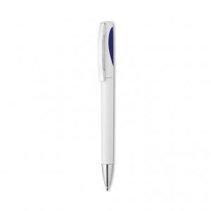 Plastic ball pen in solid colour finish