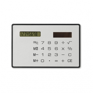 Solar 8 digit credit card size calculator