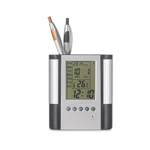 Clock, alarm & weather station